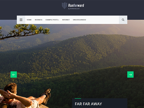 Runforward Free WordPress Theme