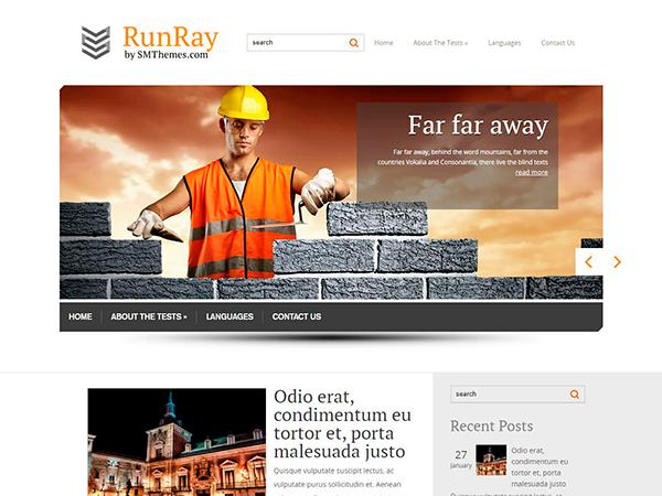 RunRay Free WordPress Theme