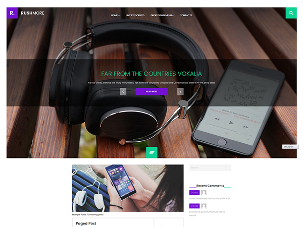 RushMore Free WordPress Theme