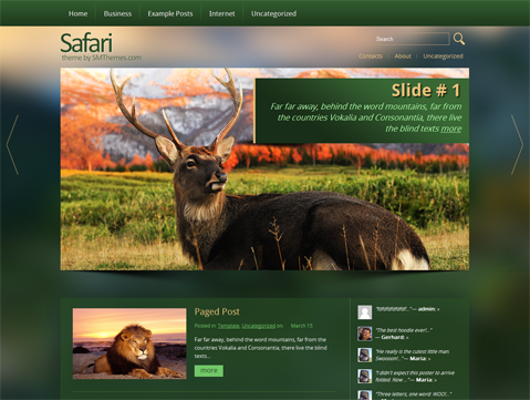 Safari Free WordPress Theme