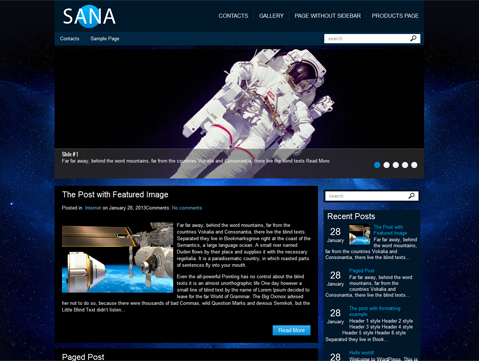 Sana Free WordPress Theme