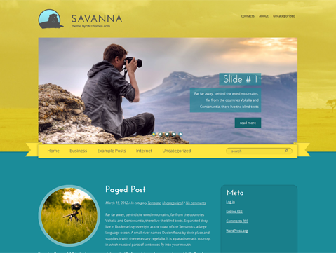 Savanna WordPress Theme