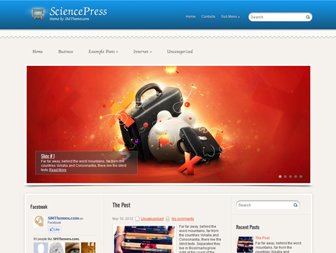 SciencePress Free WordPress Theme