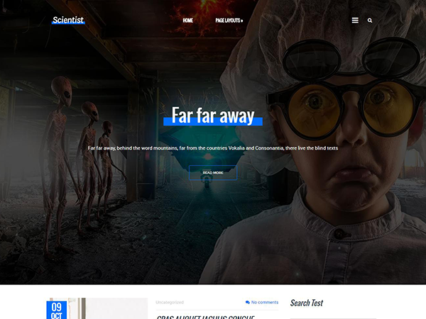 Scientists Free WordPress Theme