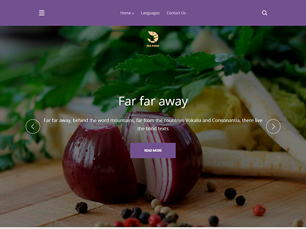 SeaFood Free WordPress Theme