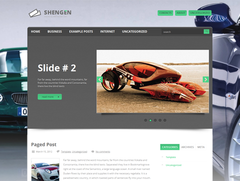 Shengen WordPress Theme