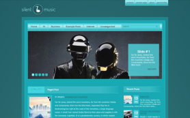 SilentMusic Free WordPress Theme