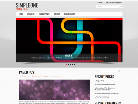SimpleOne WordPress Theme