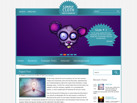 SimplyCloth WordPress Theme