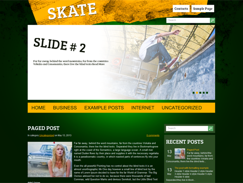 Skate Free WordPress Theme