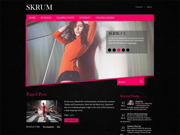 Skrum Free WordPress Theme