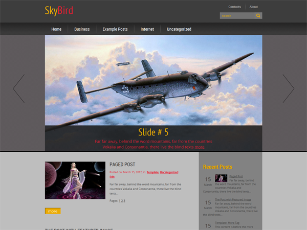 SkyBird WordPress Theme