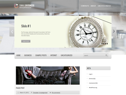 SmallBusiness Free WordPress Theme