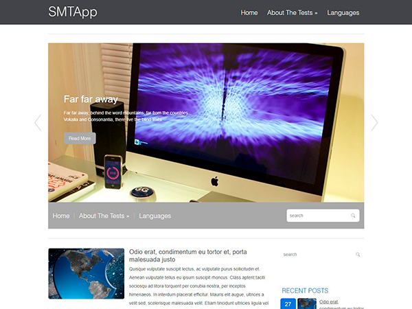 SMTApp Free WordPress Theme