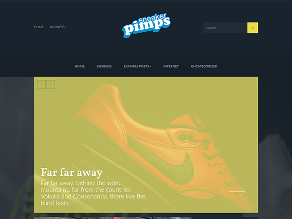 Sneakerpimps Free WordPress Theme