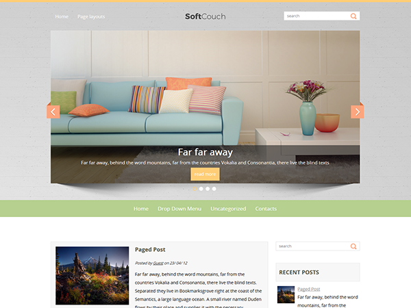 SoftCouch Free WordPress Theme