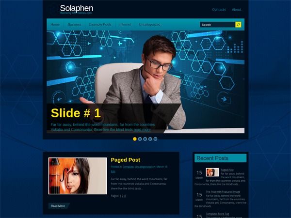 Solaphen Free WordPress Theme