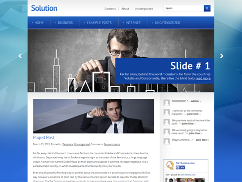 Solution Free WordPress Theme