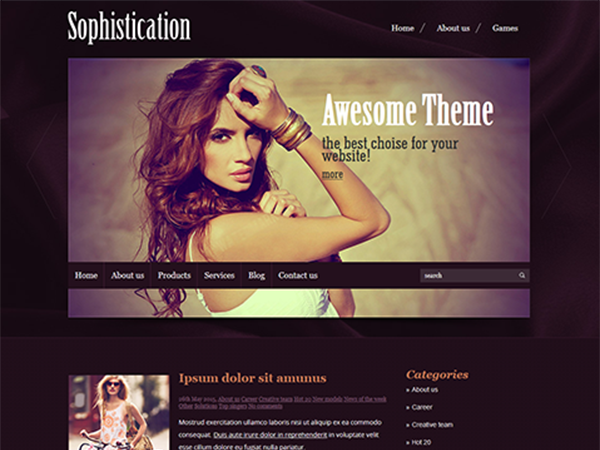 Sophistication WordPress Theme