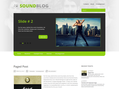 SoundBlog Free WordPress Theme
