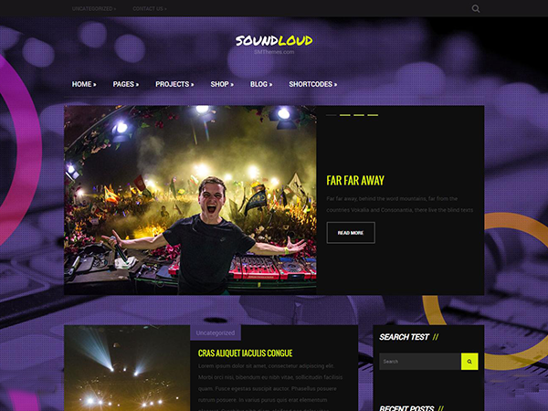 SoundLoud WordPress Theme