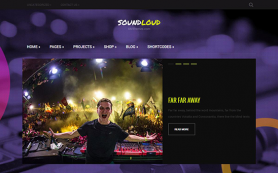 SoundLoud Free WordPress Theme