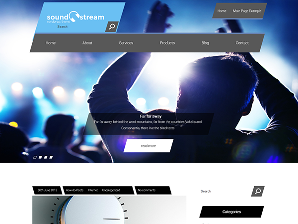 SoundStream Free WordPress Theme