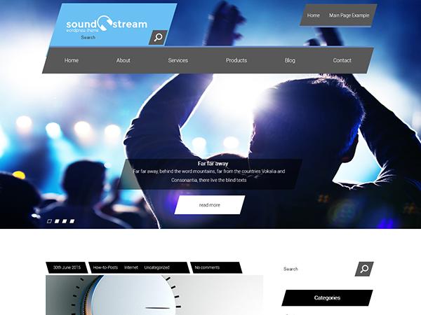 SoundStream WordPress Theme