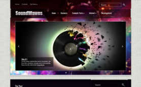 SoundWavesSE Free WordPress Theme