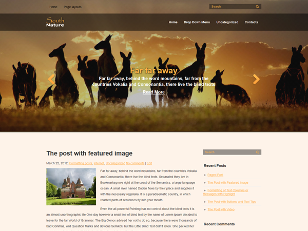 South WordPress Theme
