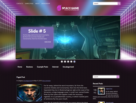 SpaceGame Free WordPress Theme