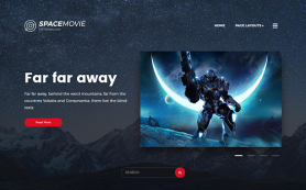 SpaceMovie Free WordPress Theme