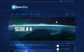 SpaceShip Free WordPress Theme