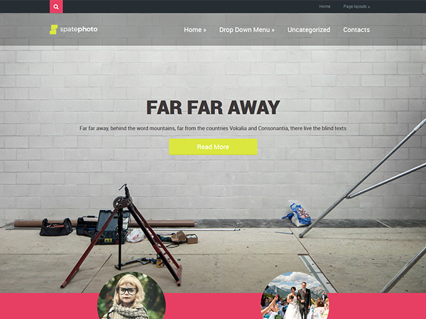 SpatePhoto Free WordPress Theme