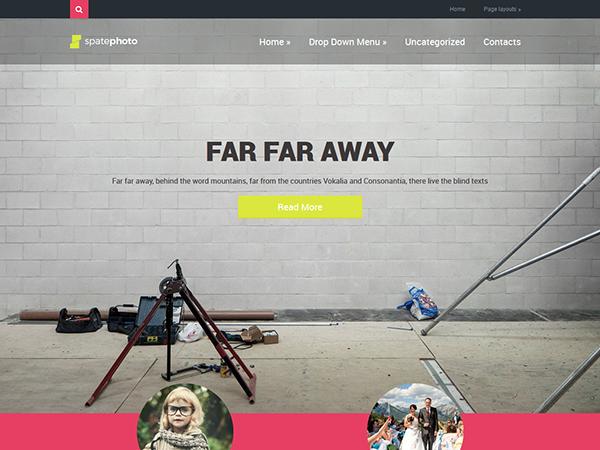 SpatePhoto WordPress Theme