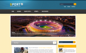 Sport Free WordPress Theme