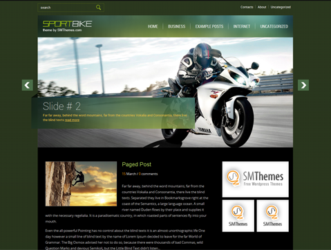 SportBike Free WordPress Theme