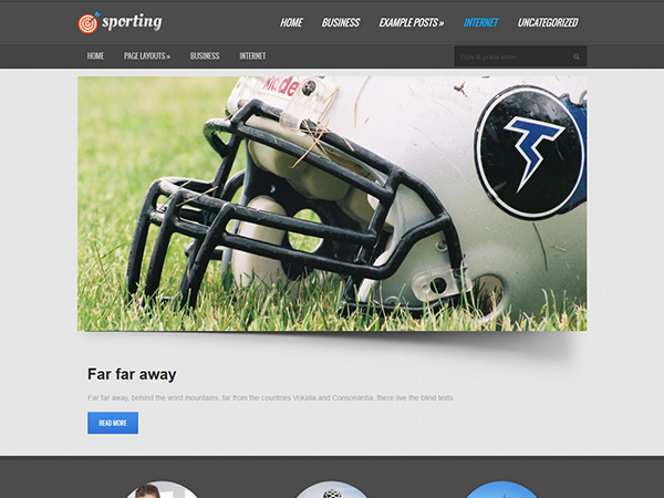 Sporting Free WordPress Theme
