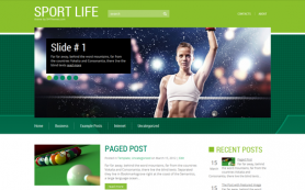 SportLife Free WordPress Theme