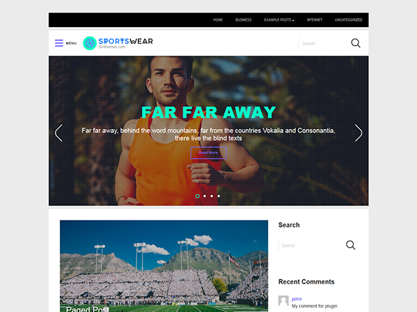SportsWear Free WordPress Theme
