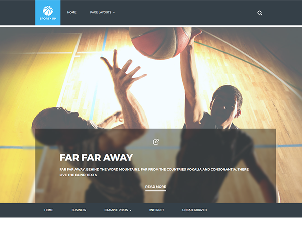 SportUp WordPress Theme