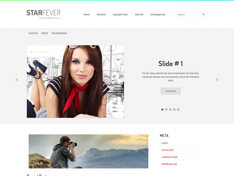 StarFever Free WordPress Theme