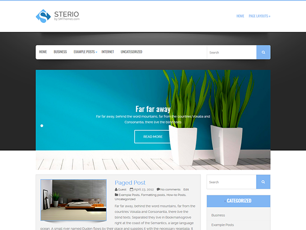 Sterio Free WordPress Theme