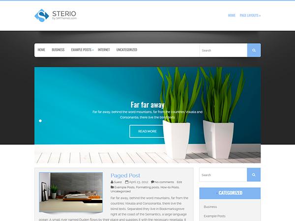 Sterio Free WordPress Theme