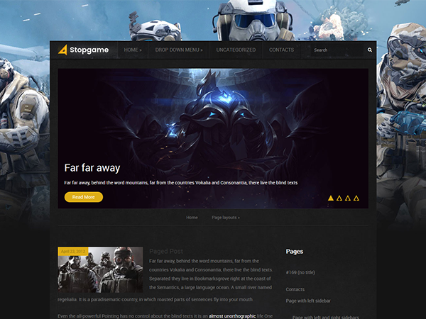 StopGame WordPress Theme