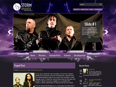 StormMusic WordPress Theme