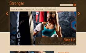 Stronger Free WordPress Theme