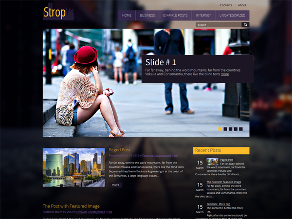 Strop Free WordPress Theme