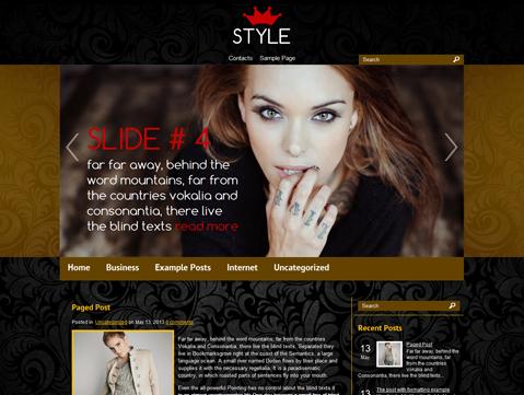 Style Free WordPress Theme