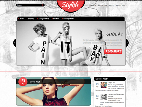 Stylish Free WordPress Theme